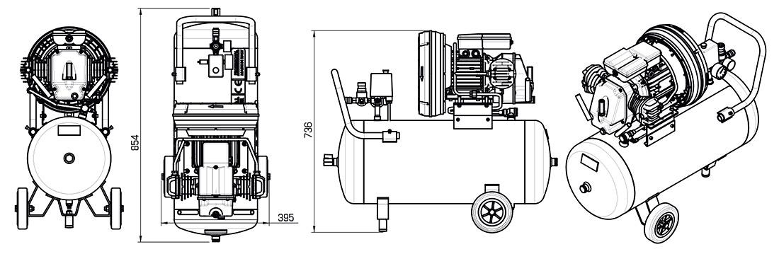 Technical Illustration of Compressor S Series