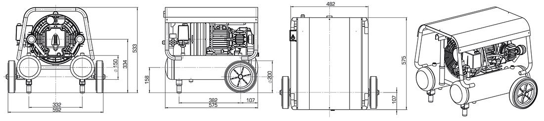 Technical Illustration of Compressor Worker Series
